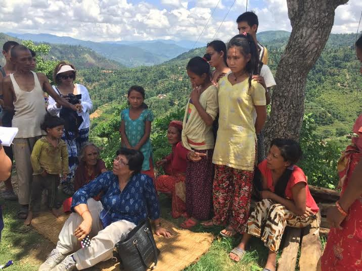 Surveillance work in Salle, Sindhupalchowk.
